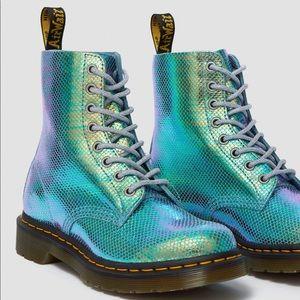 Dr. Martens 1460 Pascal Iridescent Boots Size 6